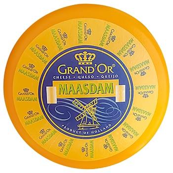Сыр Grand`Or Мааздам твердый 45% - купить, цены на СитиМаркет - фото 1