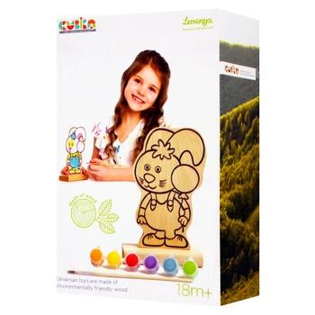 Іграшка Левеня Гра-розмальовка Зайчик з фарбами 13869 - купити, ціни на Фуршет - фото 1