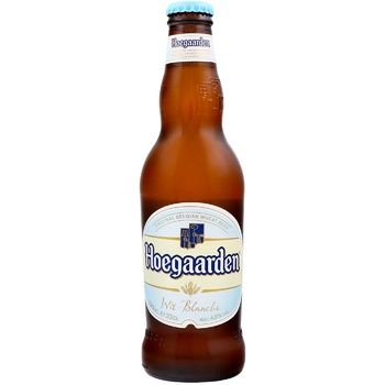 Пиво Hoegaarden Wit Blanche светлое нефильтрованное 4,9% 0,33л - купить, цены на Фуршет - фото 1
