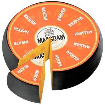 Сыр Cesvaine Маасдам Голд твердый 45% - купить, цены на СитиМаркет - фото 1