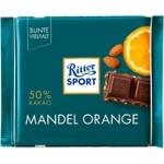 Ritter Sport Oange-Almond Dark Chocolate 100g