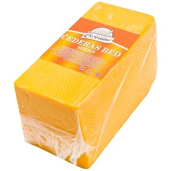 Cesvaine Cheddar Red Hard Cheese 50% - buy, prices for CityMarket - photo 1