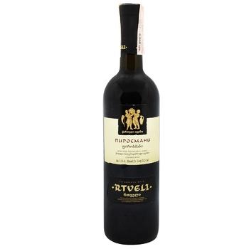 Вино Rtveli Пиросмани красное полусухое 11% 0,75л