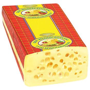 Wloszczowa Swiss Hard Cheese 45% - buy, prices for CityMarket - photo 1