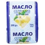 Масло Селянське сладкосливочное 73% 200г - купить, цены на ЕКО Маркет - фото 1