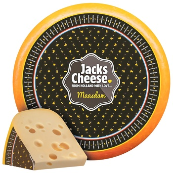Сир Jacks Cheese Мааздам твердый 45% - купити, ціни на CітіМаркет - фото 1