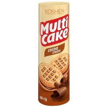 Печенье Roshen Мулти-кейк с начинкой какао 180г - купить, цены на ЕКО Маркет - фото 1