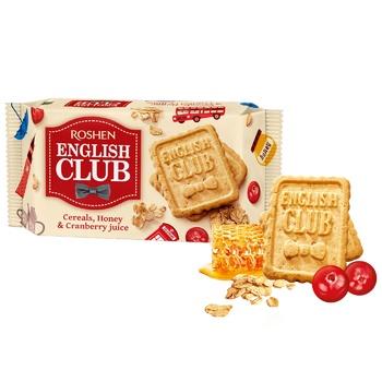 Печенье Roshen English Club с овсяными хлопьями, медом и клюквенным соком 112г