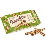 Вафельные трубочки Roshen Konafetto с начинкой орех 156г