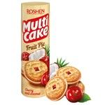 Печенье-сэндвич Roshen Multicake сахарное с начинкой вишня-кокос 195г