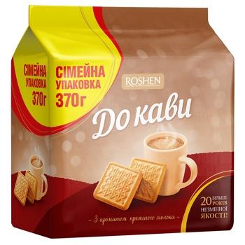 Печиво Roshen До кави цукрове з ароматом пряженого молока 370г - купити, ціни на Novus - фото 1