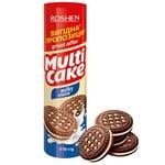 Roshen Multicake Cookies sandwich sugar with milk-cream filling 210g