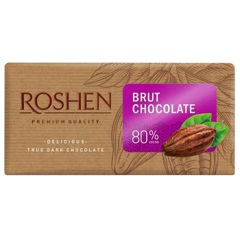 Шоколад черный Roshen Брют 80% 90г - купить, цены на Ашан - фото 1