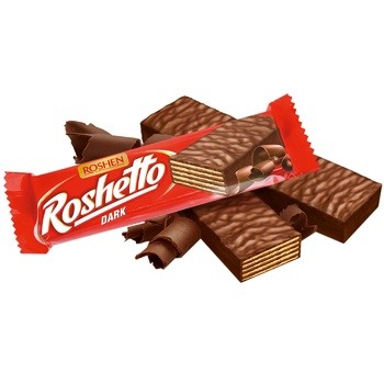 Батончик вафельный Roshen Roshetto Dark в шоколадной глазури 32г - купить, цены на СитиМаркет - фото 1