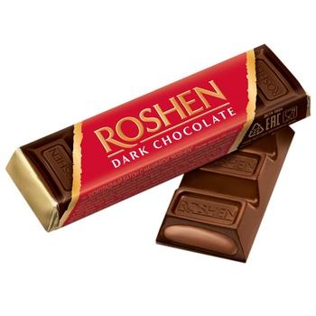 Батончик Roshen шоколадный с помадно-шоколадной начинкой 43г - купить, цены на Восторг - фото 1