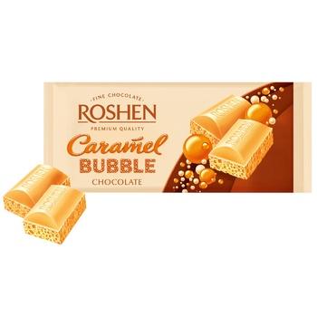 Шоколад Roshen пористый белый карамель 80г