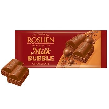 Шоколад Roshen молочный пористый 80г - купить, цены на Фуршет - фото 2