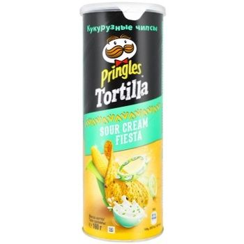 Pringles Tortilla with taste of sour cream corn chips 160g - buy, prices for Auchan - photo 1
