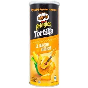 Pringles Tortilla with taste of cheese corn chips 160g - buy, prices for Auchan - photo 1