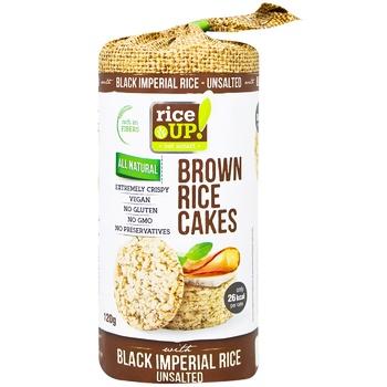 Хлебцы рисовые Rice Up! цельнозерновые несоленые 120г