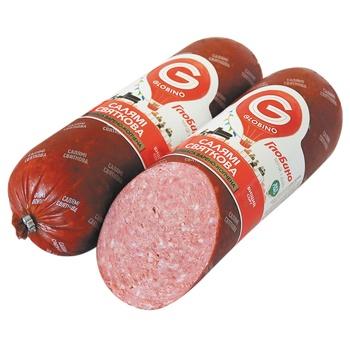 Sausage salami Globino Festive smoked-boiled vacuum packing Ukraine
