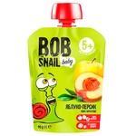 Пюре дитяче Snail Bob яблуко-персик 90г