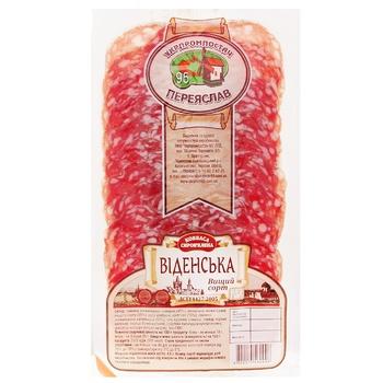 Колбаса Укрпромпостач-95 Венская сыровяленая нарезка 80г - купить, цены на Фуршет - фото 1