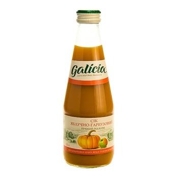 Сок Galicia яблочно-тыквенный с мякотью 0,3л стекло