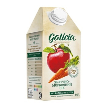 Galicia apple-carrot juice with pulp 0,5l - buy, prices for Auchan - photo 2