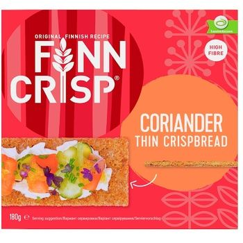 Сухарі Finn Crisp Мультизернові з коріандром 180г - купити, ціни на ЕКО Маркет - фото 2