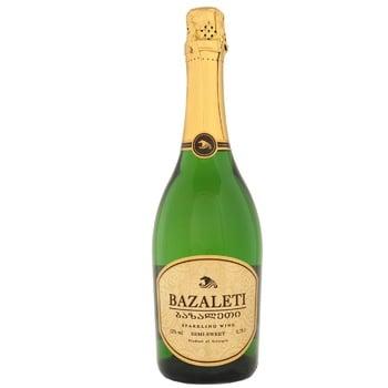 Вино игристое Bazalet белое полусладкое 12% 0,75л - купить, цены на СитиМаркет - фото 1
