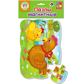 Пазл Vladi Toys Курочка та курча магнітний - купити, ціни на ЕКО Маркет - фото 1