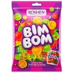 Цукерки Roshen Бім-Бом карамель з фруктово-ягідною начинкою 200г