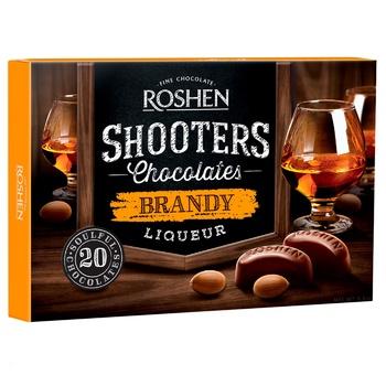 Цукерки шоколадні Roshen Shooters з бренді-лікером 150г - купити, ціни на ЕКО Маркет - фото 1