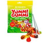 Цукерки желейні Roshen Yummi Gummi Fizzy Worms 100г