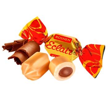 Конфеты Roshen Эклер карамельные с шоколадной начинкой