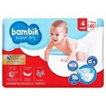 Подгузники Bambik Jumbo Maxi 4 7-18кг 45шт