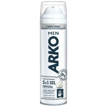 Гель для бритья Arko Crystal 200мл
