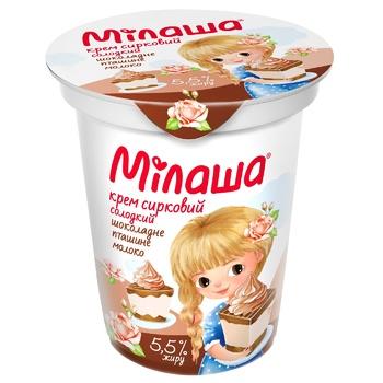 Milasha Ptashyne Moloko Cottage Cheese Cream 5.3% 150g