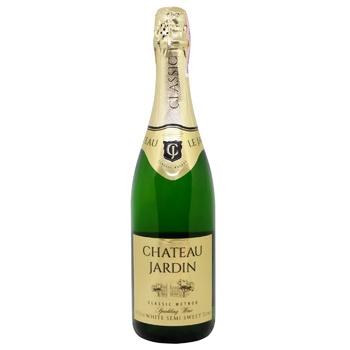 Chateau Jardin White Semi Sweet Sparkling Wine 10-13.5% 0.75l