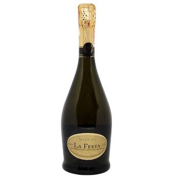 Вино игристое La Festa Moscato белое полусладкое 13,5% 0,75л