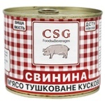 Свинина CSG тушеная 525г
