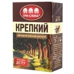 Чай черный Три Слона Крепкий байховый листовой 80г