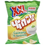 Nash Produkt Potato Chips with Sour Cream Flavor with Herbs 140g