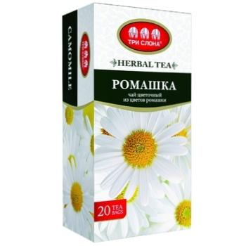 Tri Slona Chamomile Flower Tea 20pcs - buy, prices for Auchan - photo 1