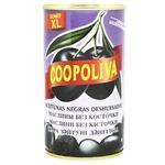 Маслины Coopoliva черные без косточки 370мл