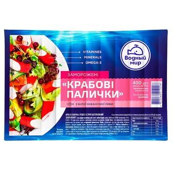 Крабові палички Водный Мир заморожені 400г - купити, ціни на Varus - фото 1