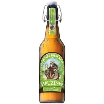 Пиво Kapuziner Weissbier светлое нефильтрованное 5,4% 0,5л