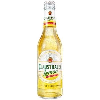 Пиво Clausthaler Lemon светлое безалкогольное 0% 0,33л