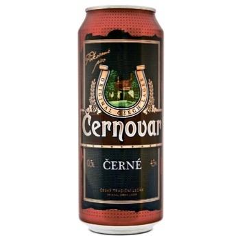 Пиво Cernovar темне фільтроване 4,5% 0,5л - купити, ціни на CітіМаркет - фото 1